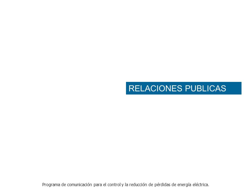 Programa de comunicación para el control y la reducción de pérdidas de energía eléctrica. RELACIONES PUBLICAS
