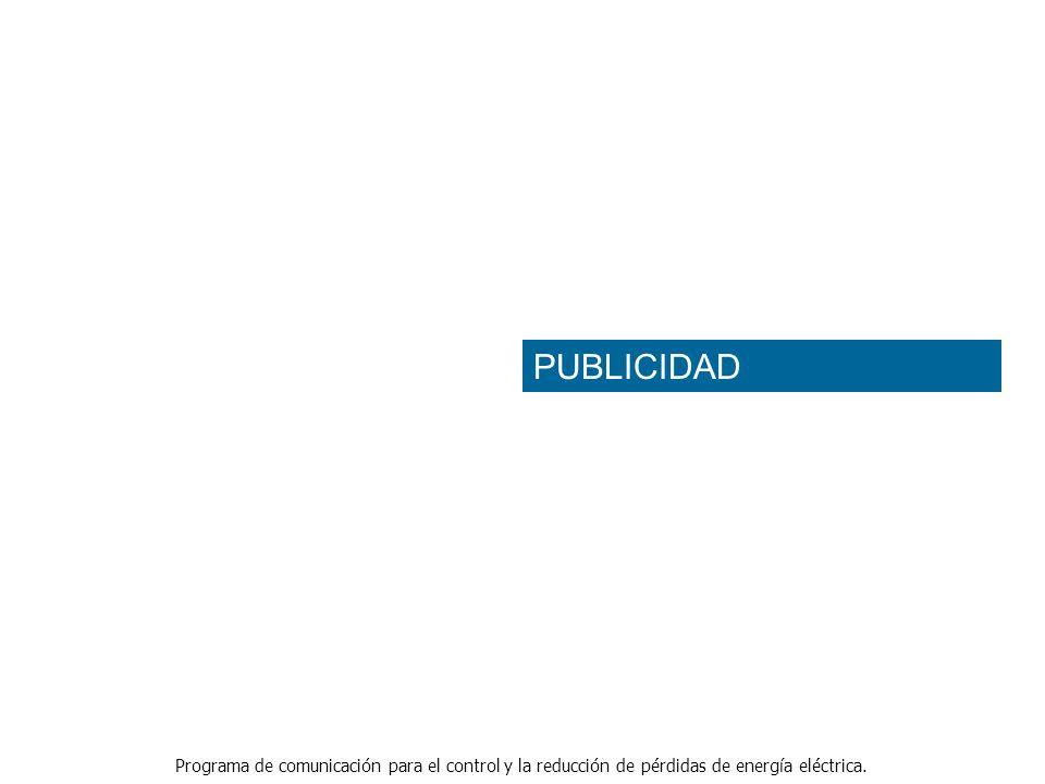Programa de comunicación para el control y la reducción de pérdidas de energía eléctrica. PUBLICIDAD