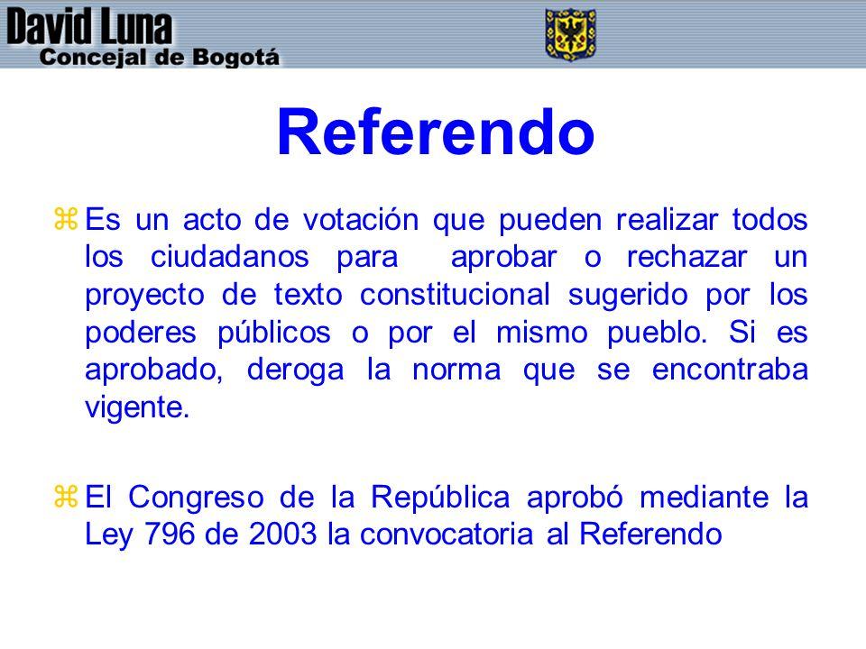 Referendo zEs un acto de votación que pueden realizar todos los ciudadanos para aprobar o rechazar un proyecto de texto constitucional sugerido por lo