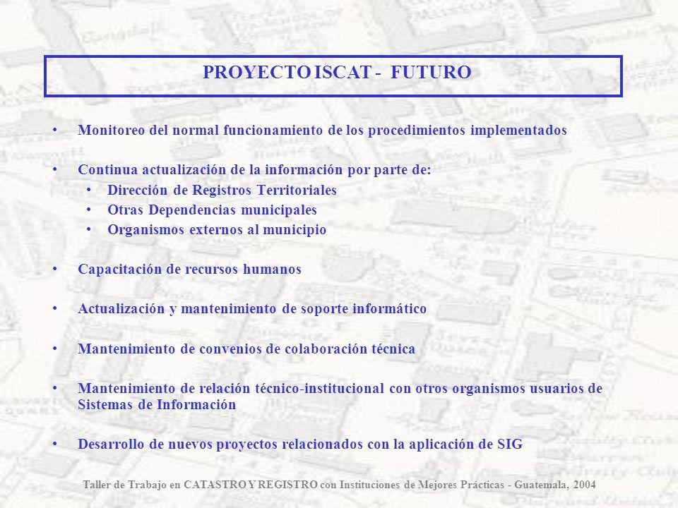 Monitoreo del normal funcionamiento de los procedimientos implementados Continua actualización de la información por parte de: Dirección de Registros