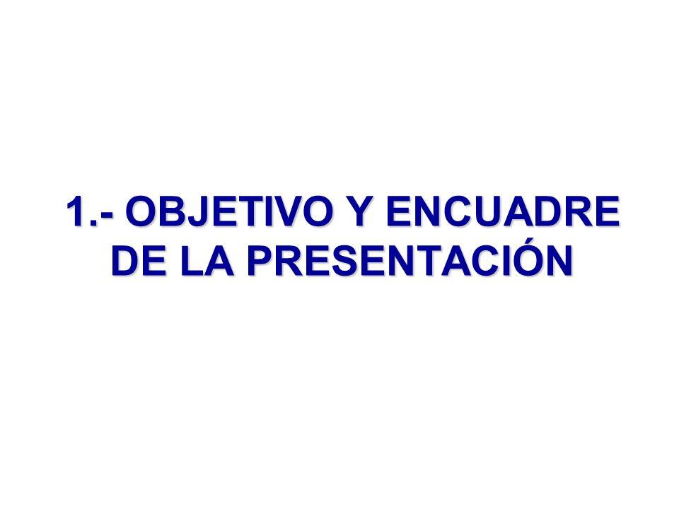 1.- OBJETIVO Y ENCUADRE DE LA PRESENTACIÓN
