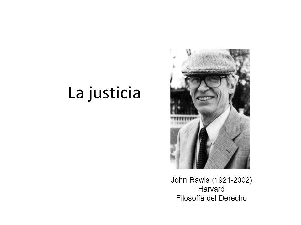 La justicia John Rawls (1921-2002) Harvard Filosofía del Derecho