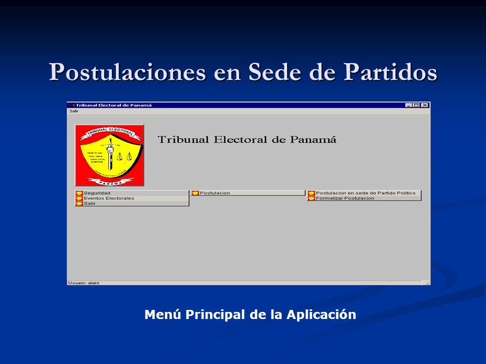 Implementación Sede PartidoTribunal Electoral