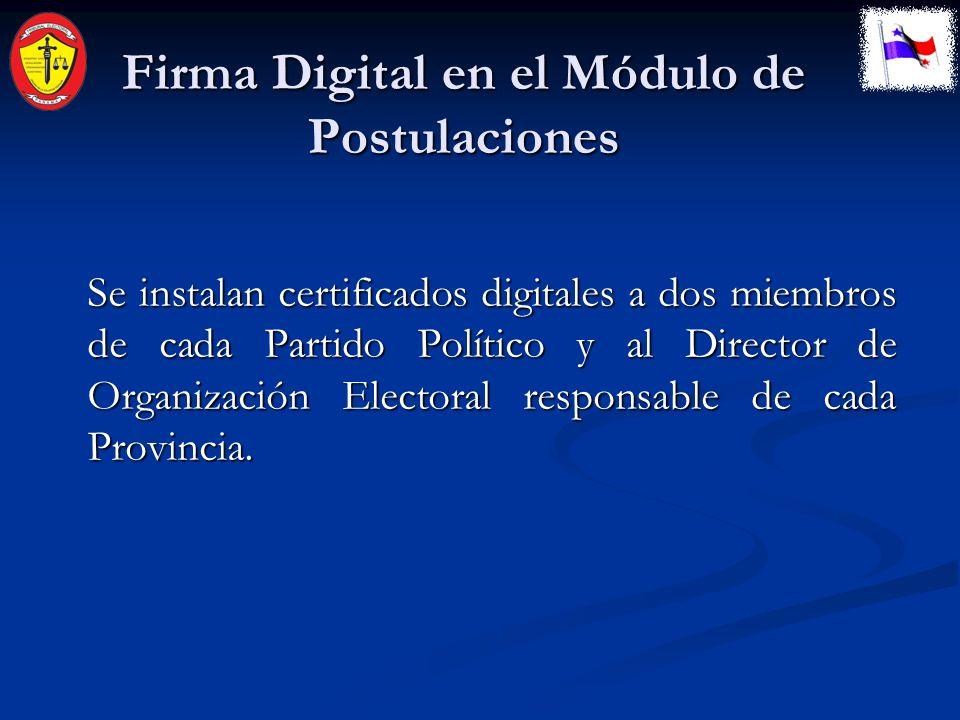 Conectividad El módulo es instalado en la Sede del Partido Político por el Personal certificado del Tribunal Electoral.