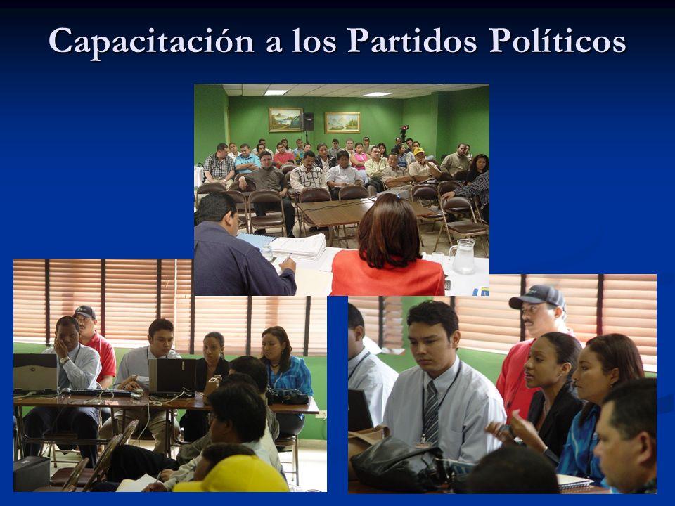 . Capacitación a los Partidos Políticos 6 de Diciembre 2003