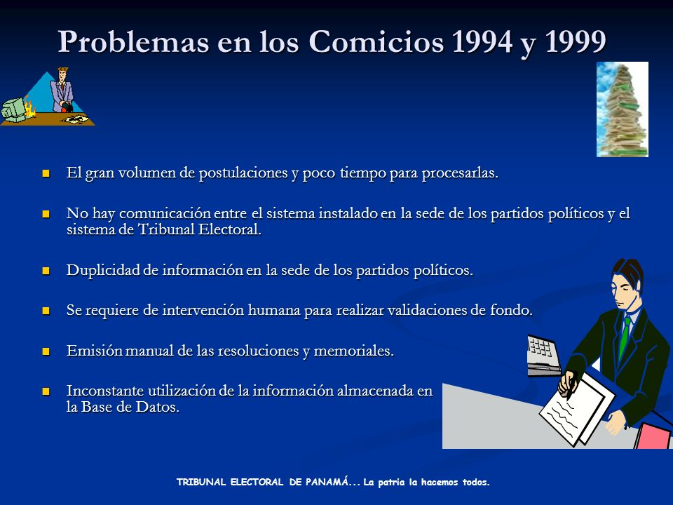 Resumen TRIBUNAL ELECTORAL DE PANAMÁ... La patria la hacemos todos.
