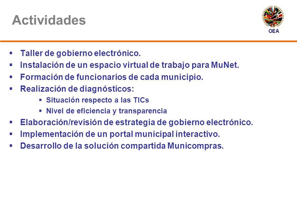 OEA Actividades Taller de gobierno electrónico.