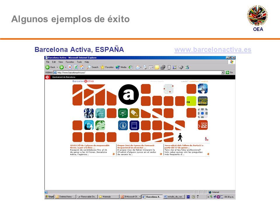 OEA Algunos ejemplos de éxito Barcelona Activa, ESPAÑA www.barcelonactiva.eswww.barcelonactiva.es