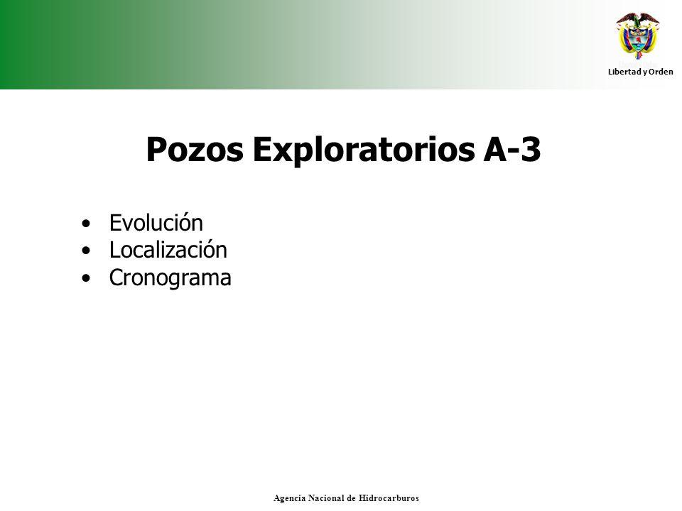 Libertad y Orden Agencia Nacional de Hidrocarburos Pozos Exploratorios A-3 Evolución Localización Cronograma