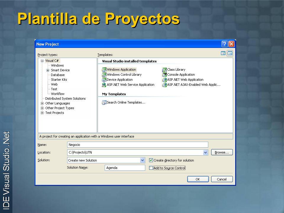 Plantilla de Proyectos IDE Visual Studio.Net