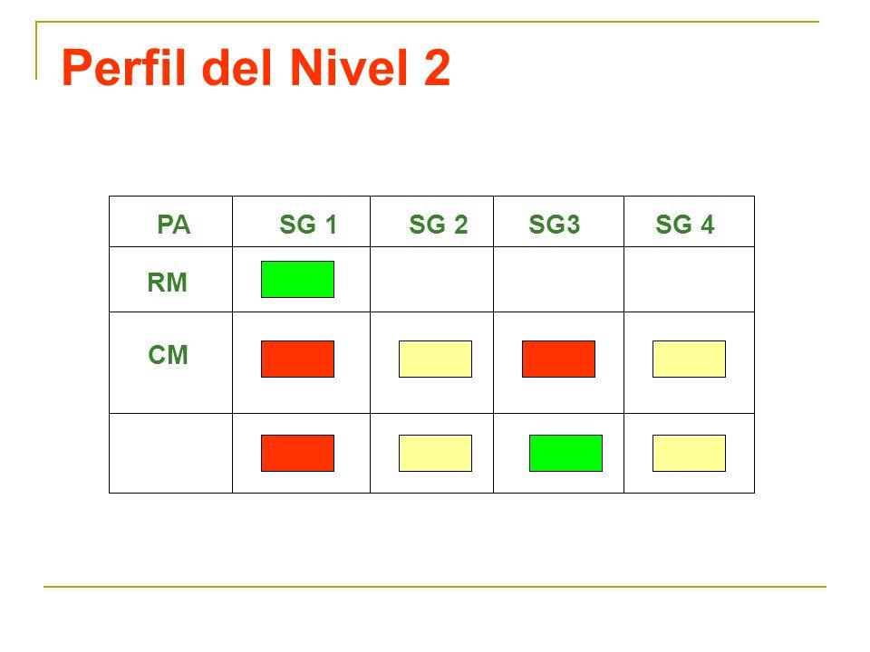 Perfil del Nivel 2 CM PA RM SG 1SG 4SG3SG 2