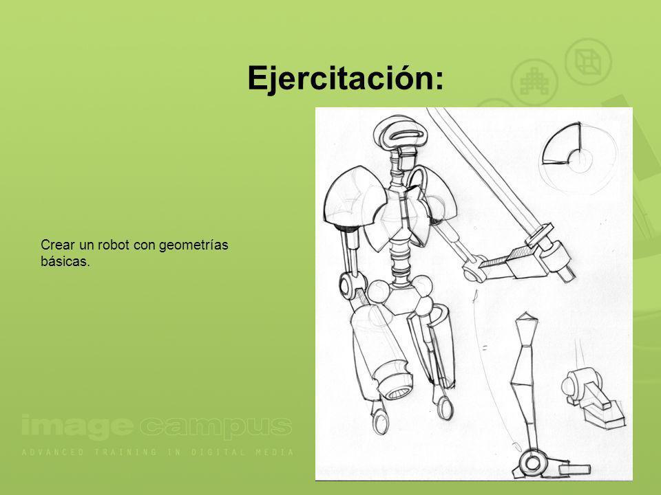 Ejercitación: Crear un robot con geometrías básicas.