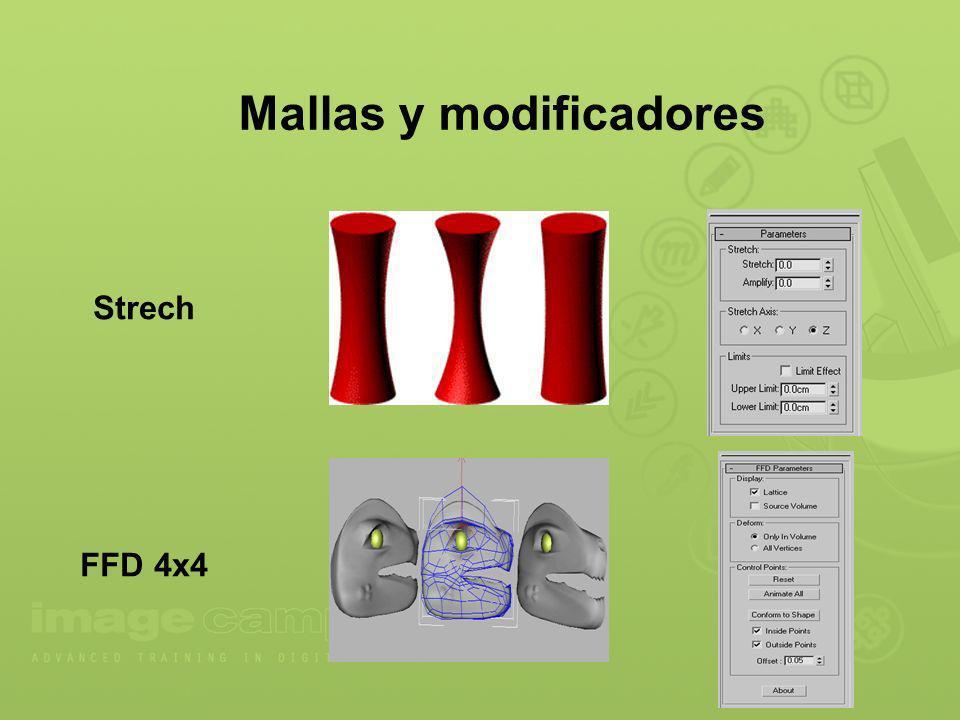 Mallas y modificadores Strech FFD 4x4