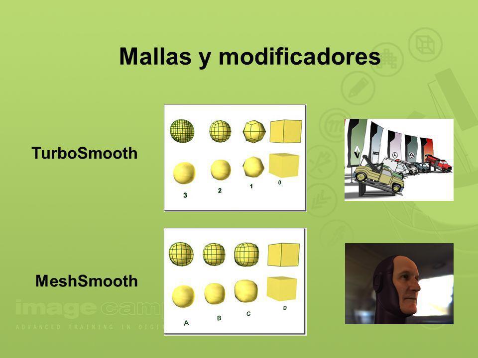 Mallas y modificadores TurboSmooth MeshSmooth