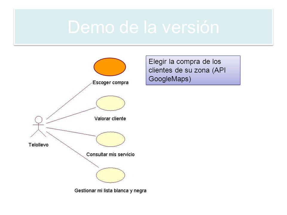 Elegir la compra de los clientes de su zona (API GoogleMaps)