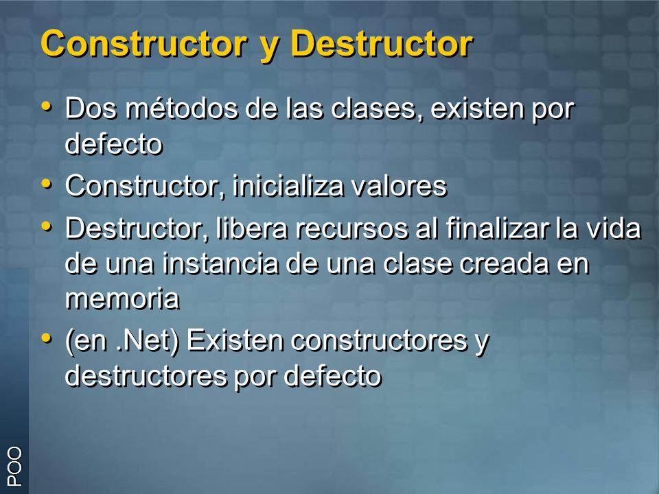 Constructores Constructor: funciones dentro de la clase, que son llamadas cuando se crea una instancia de dicha clase.