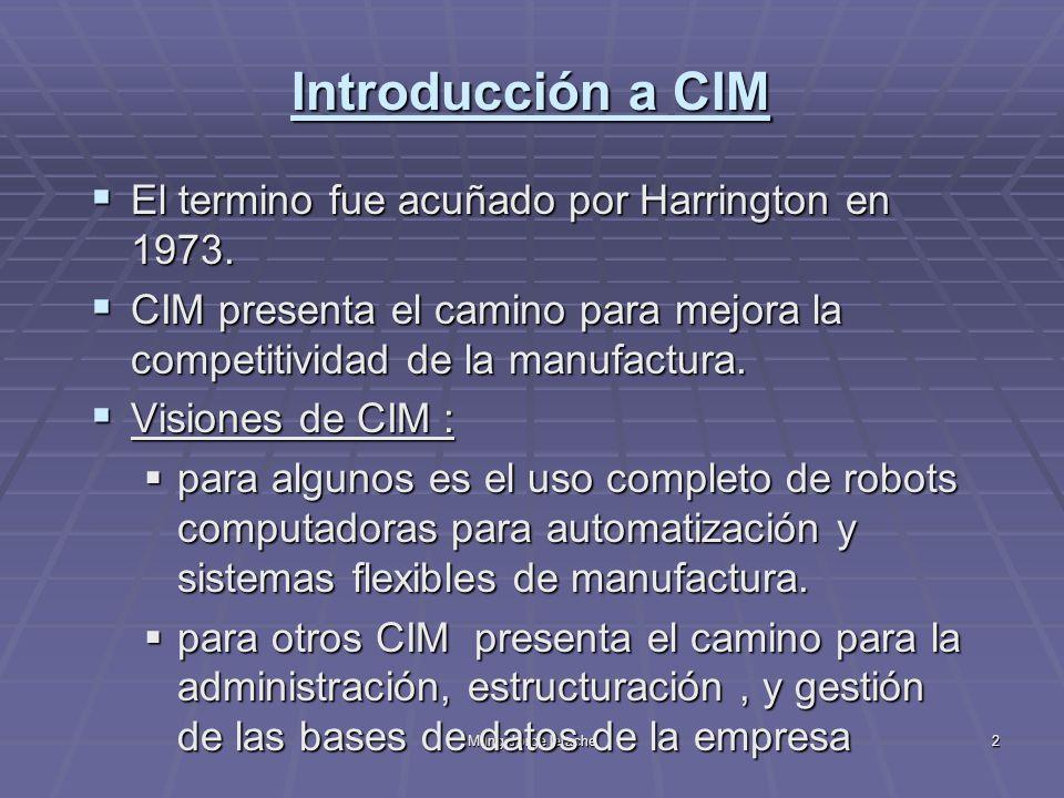 M.Ing.Jorge Ierache43 CIM - Integración: Modelo Siemmes