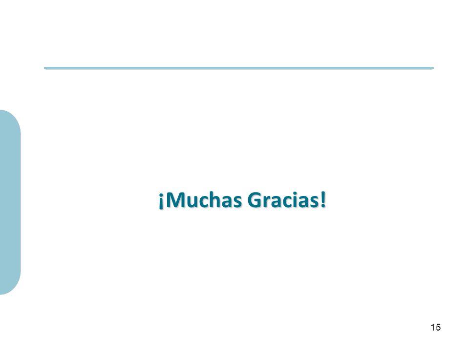 ¡Muchas Gracias! 15