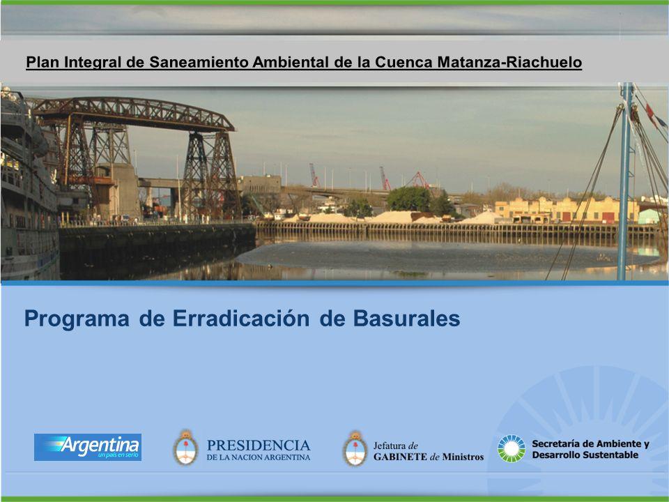 Programa de Erradicación de Basurales y Recuperación de sitios contaminados Logo presidencia Programa de Erradicación de Basurales
