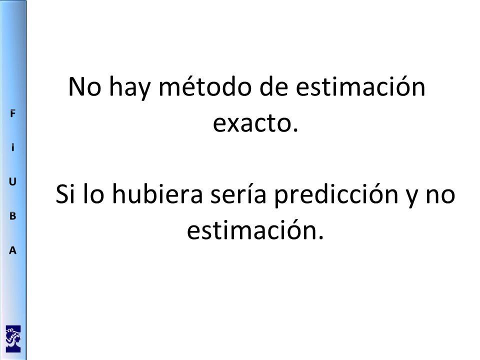 No hay método de estimación exacto. Si lo hubiera sería predicción y no estimación.