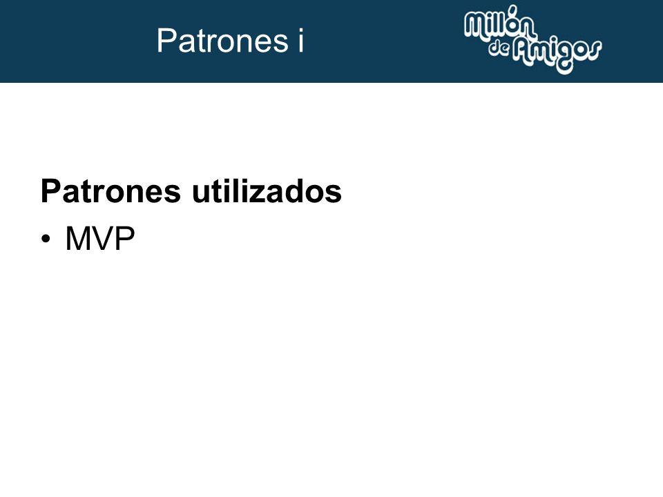 Patrones utilizados MVP Patrones i
