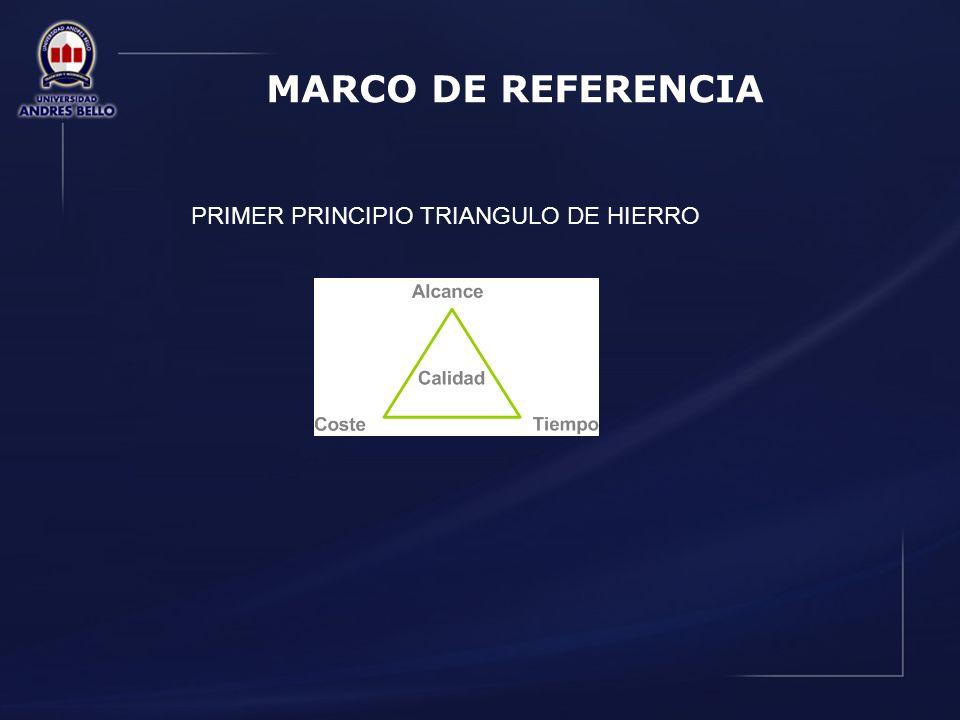 MARCO DE REFERENCIA PRIMER PRINCIPIO TRIANGULO DE HIERRO