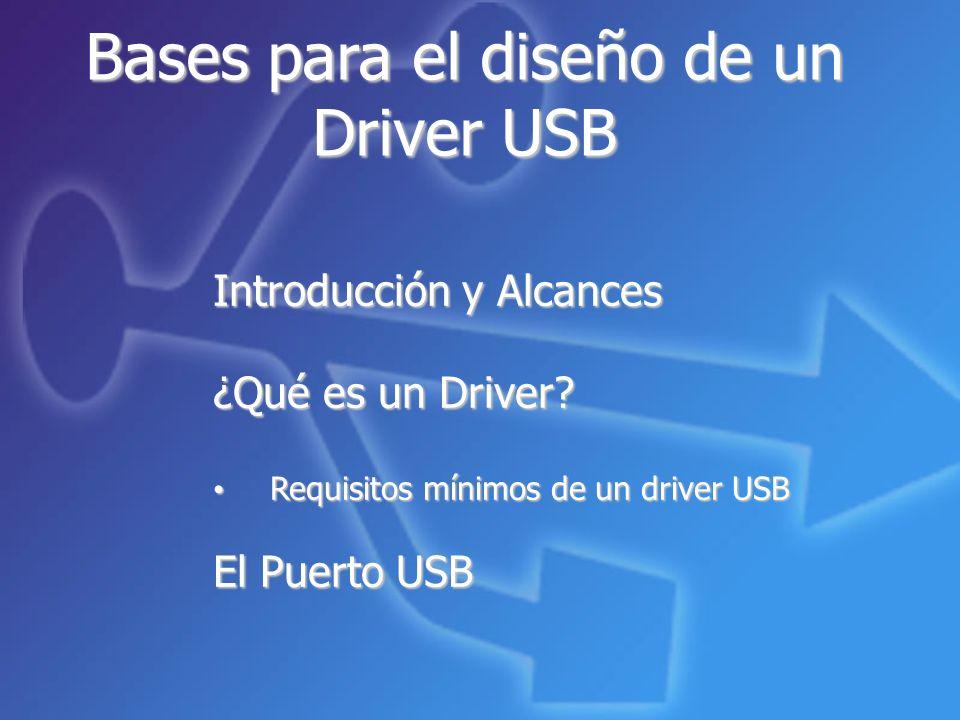 Introducción y Alcances ¿Qué es un Driver.