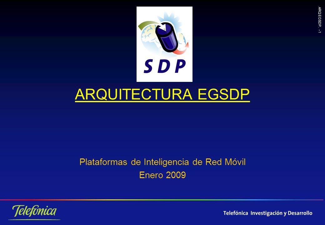 ARQ EGSDP. - 1 ARQUITECTURA EGSDP Plataformas de Inteligencia de Red Móvil Enero 2009
