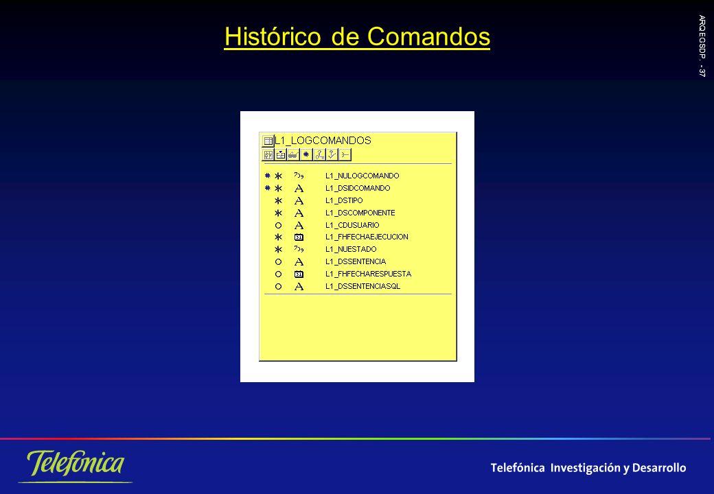 ARQ EGSDP. - 37 Histórico de Comandos