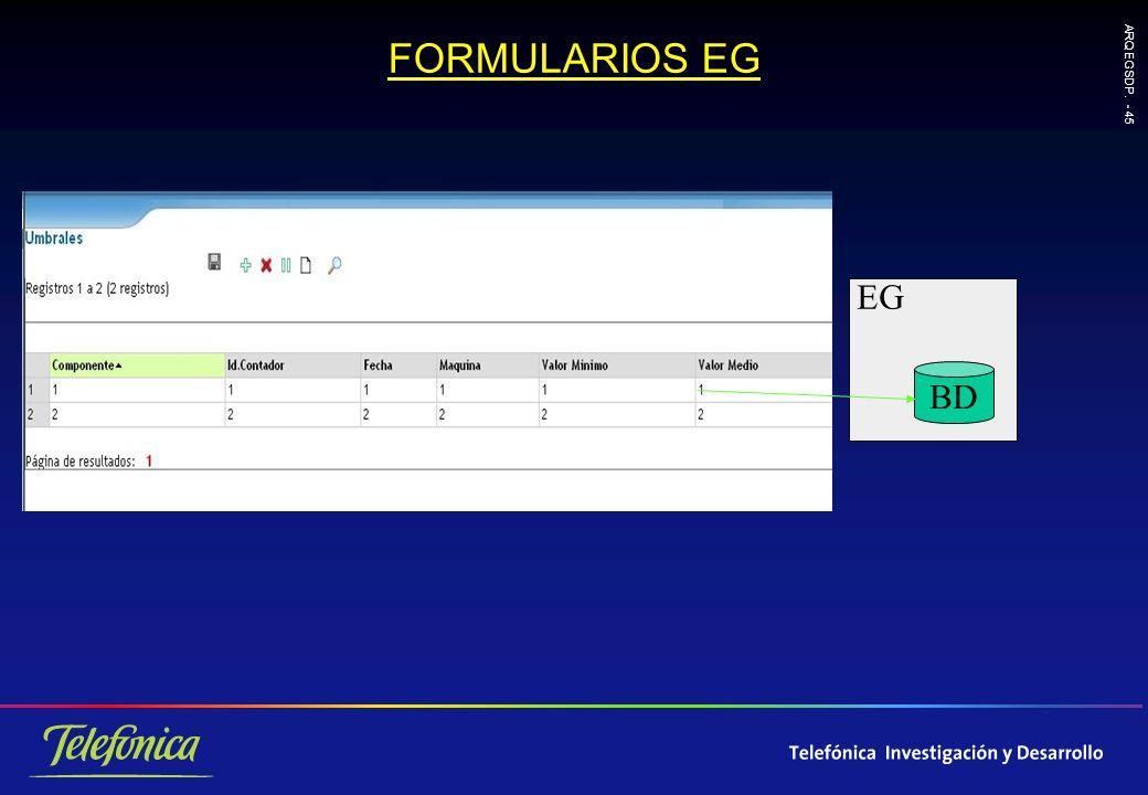 ARQ EGSDP. - 45 FORMULARIOS EG EG BD