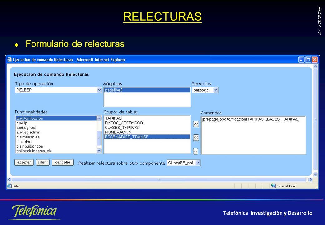 ARQ EGSDP. - 57 RELECTURAS l Formulario de relecturas