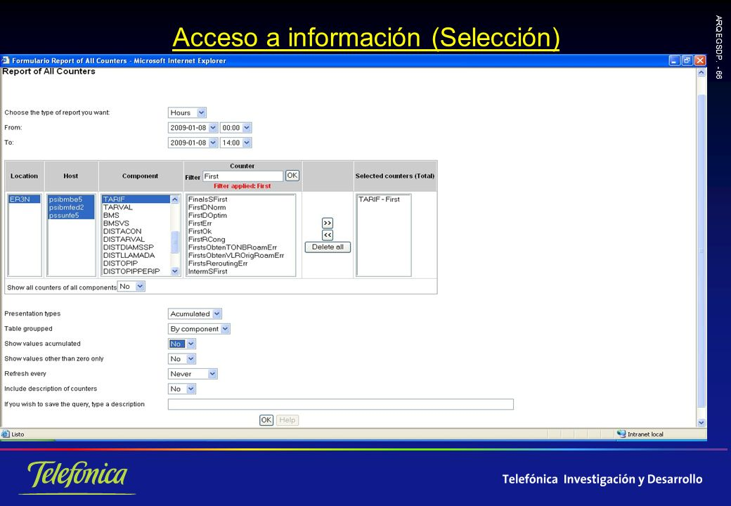 ARQ EGSDP. - 66 Acceso a información (Selección)