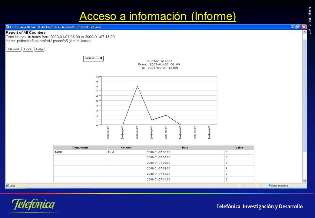 ARQ EGSDP. - 67 Acceso a información (Informe)