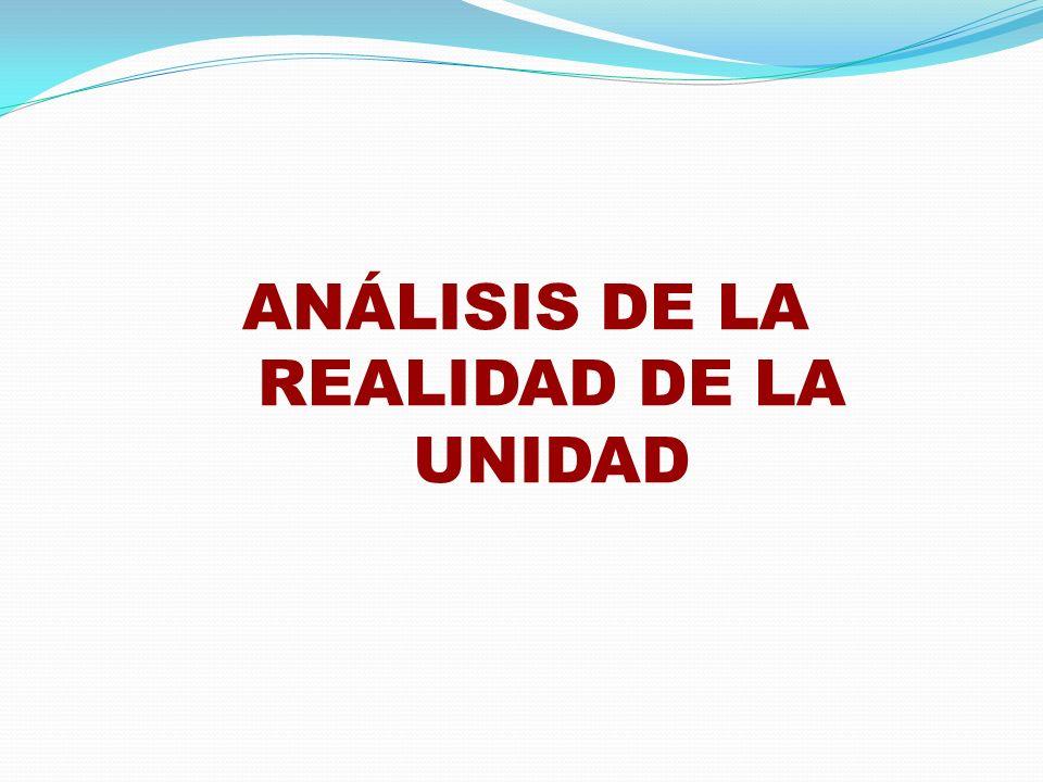 ANÁLISIS DE LA REALIDAD DE LA UNIDAD