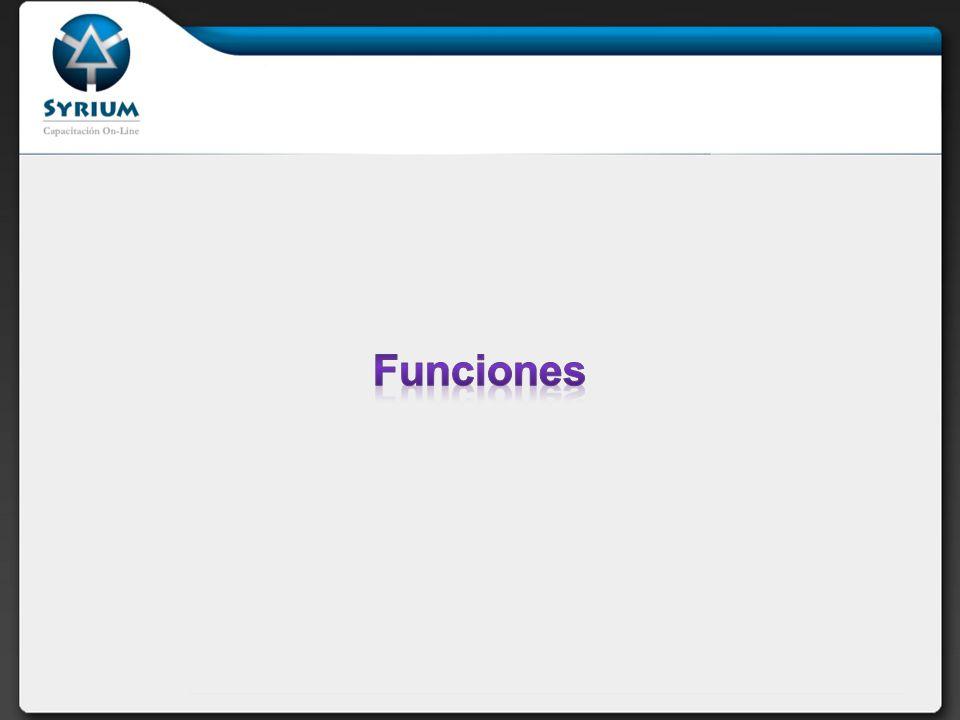 Una función se define con la siguiente sintaxis: function foo ($arg_1, $arg_2,..., $arg_n) { echo Función de ejemplo.\n ; return $retval; } En PHP3, las funciones deben definirse antes de que se referencien.