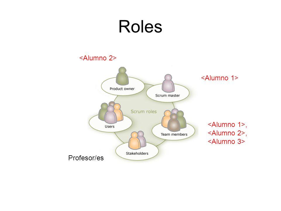 Roles,, Profesor/es