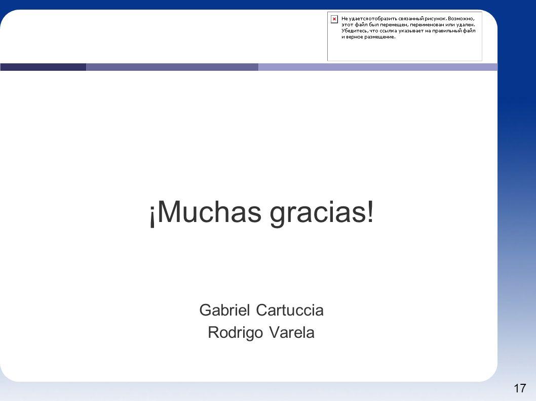 17 ¡Muchas gracias! Gabriel Cartuccia Rodrigo Varela