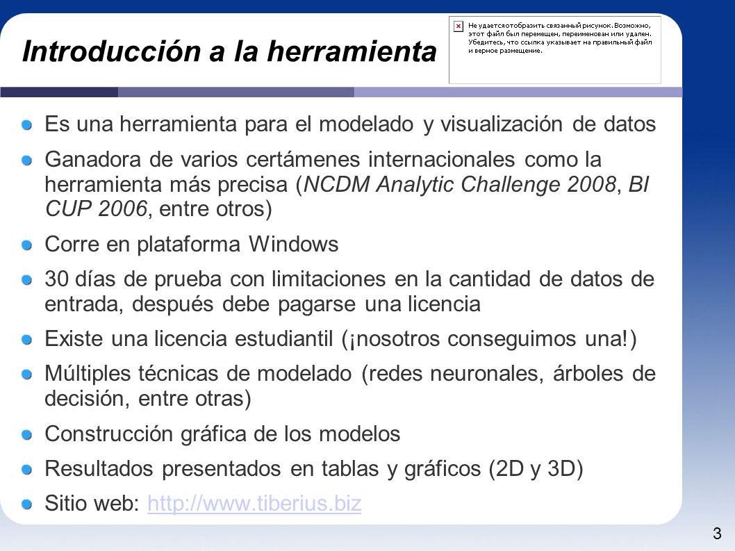 3 Introducción a la herramienta Es una herramienta para el modelado y visualización de datos Ganadora de varios certámenes internacionales como la her