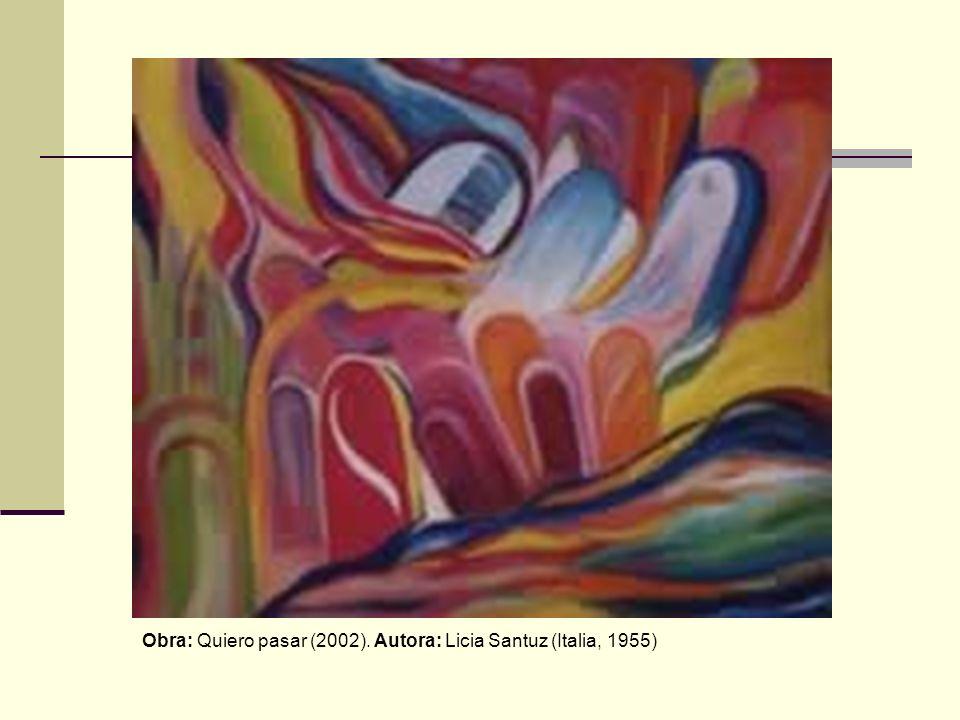 Obra: Quiero pasar (2002). Autora: Licia Santuz (Italia, 1955)