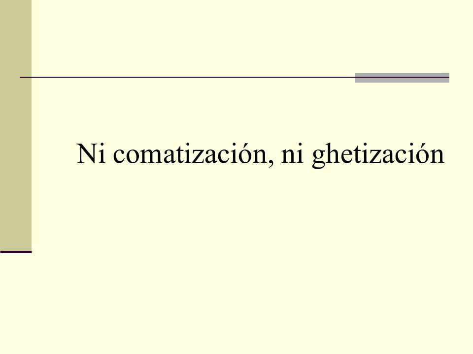 Ni comatización, ni ghetización