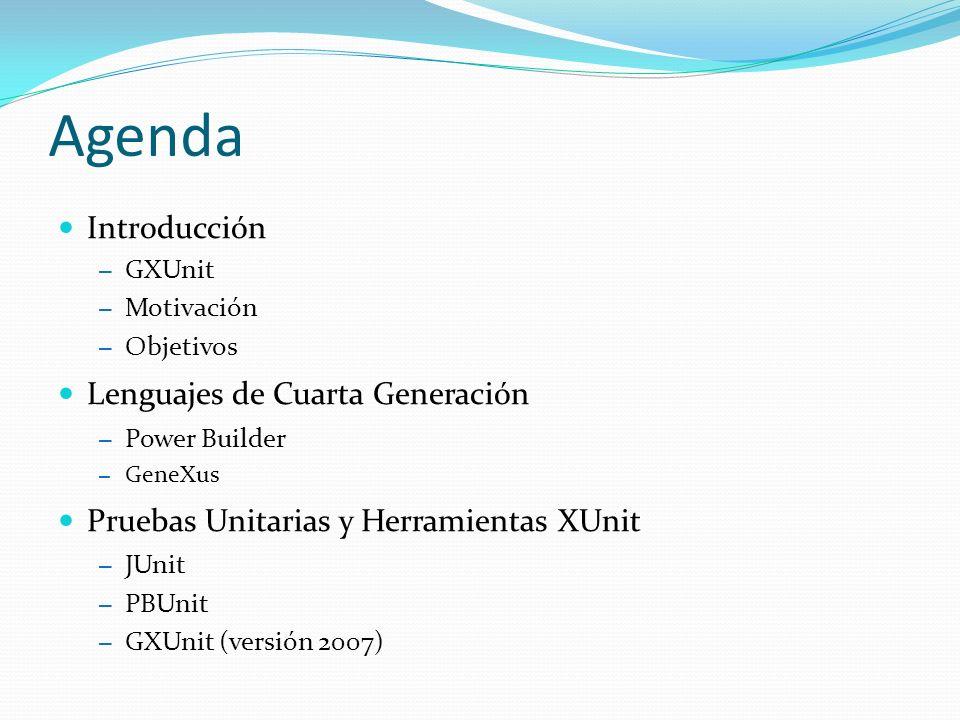 Agenda Objetos GeneXus ¿Qué es una unidad.
