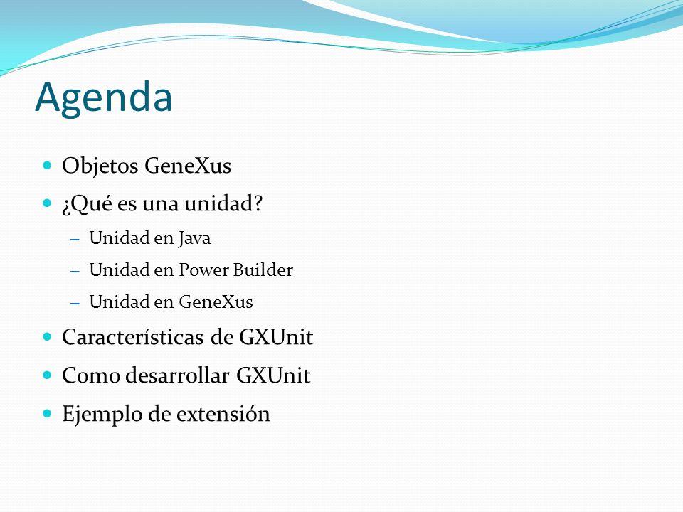 GXUnit tuvo su origen en el año 2003 En el año 2004 se formalizó la propuesta en la linea de las herramientas xUnit.