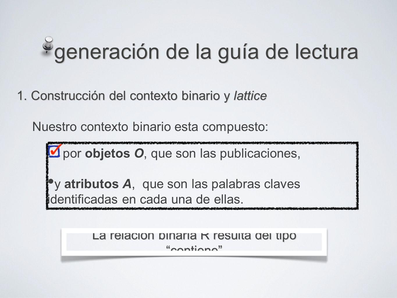 generación de la guía de lectura 1.