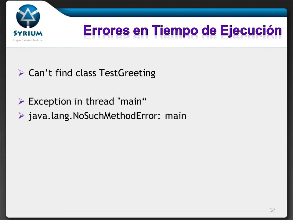 Cant find class TestGreeting Exception in thread