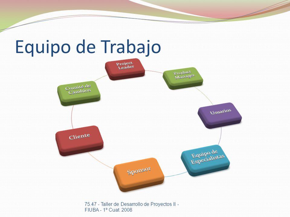 Equipo de Trabajo 75.47 - Taller de Desarrollo de Proyectos II - FIUBA - 1º Cuat. 2008