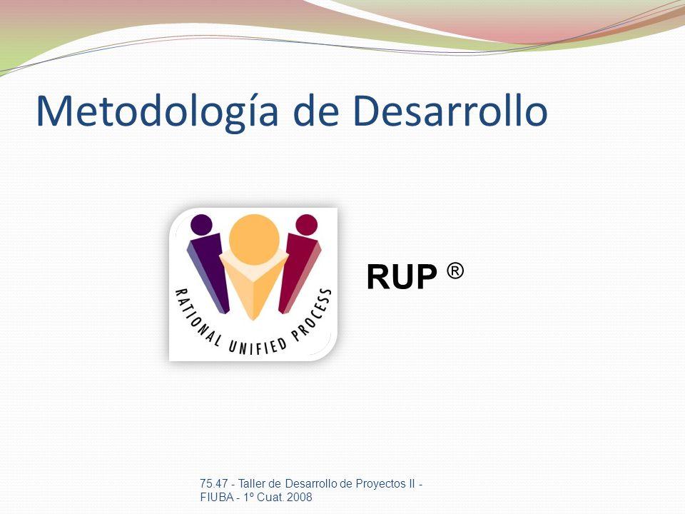 Metodología de Desarrollo 75.47 - Taller de Desarrollo de Proyectos II - FIUBA - 1º Cuat. 2008 RUP ®