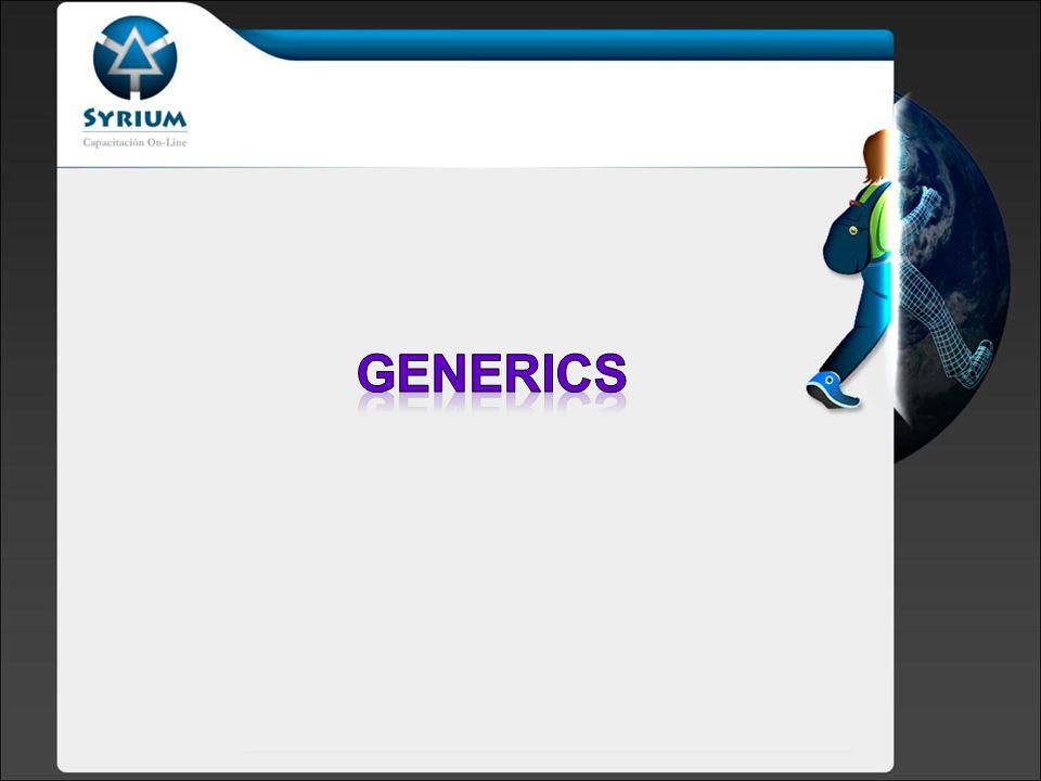 Generics permite abstraerse sobre los tipos Clases, interfaces y métodos pueden ser parametrizadas como Tipos.