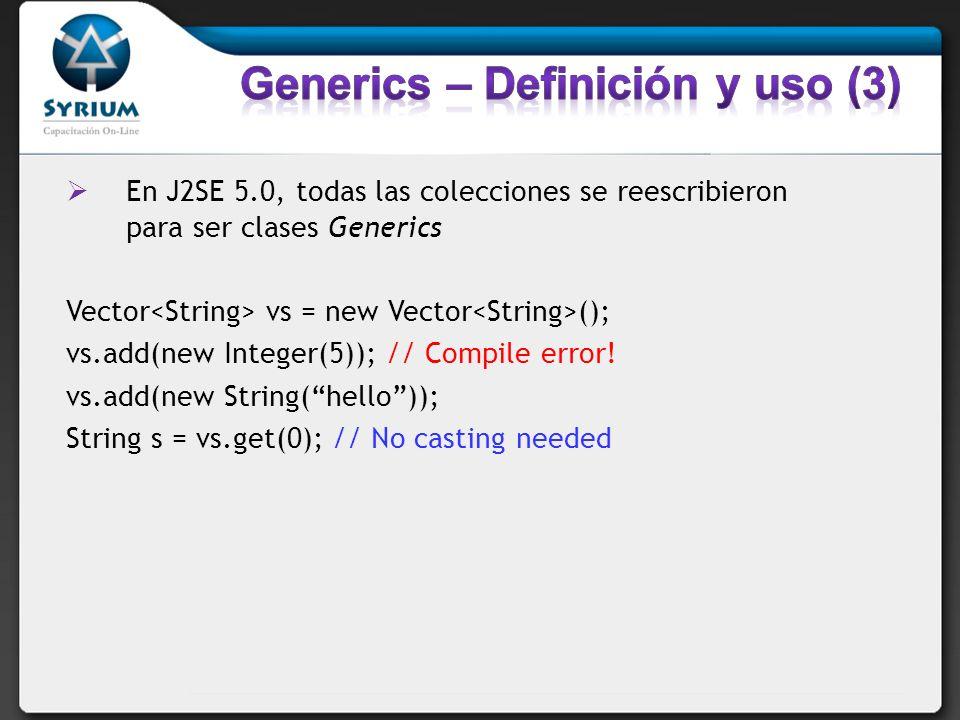 Clases generics pueden tener múltiples parámetros.