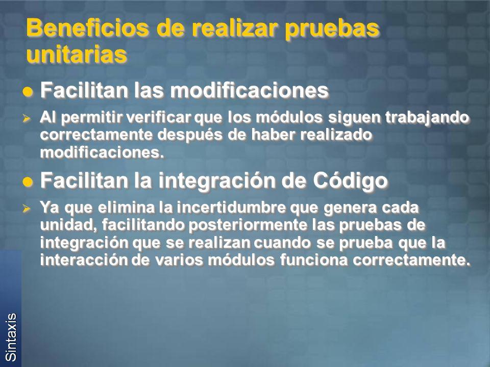 Conceptos Básicos Atributos: Atributos: TestFixture: Indica que una clase tiene métodos de prueba.