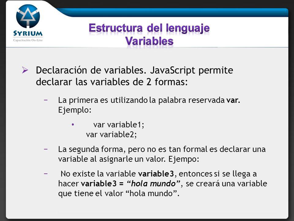 Re-declaración de variables.OJO!.